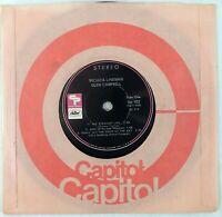 "Glen Campbell Wichita Lineman Capitol Records SU-103 Vinyl, 7"", 33 ⅓ RPM 1969"