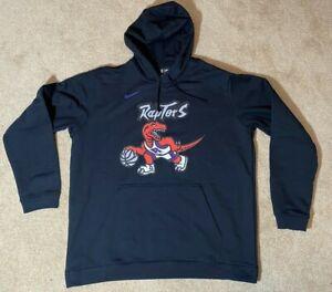 Nike Toronto Raptors Mens Hoody Sweatshirt - Black XXL Hardwood Classics
