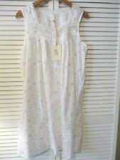 New Rachel Ashwell Shabby Chic White Blue Floral Swiss Dot Cotton Nightgown XL