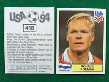 USA 94 1994 n 418 RONALD KOEMAN OLANDA NEDERLAND , Figurina Sticker Panini NEW