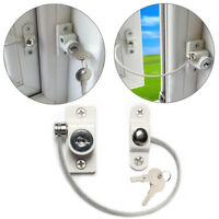 Baby Window Door Restrictor Safety Locking UPVC Child Security Wire Cable UK
