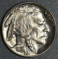 New Listing1938-D/S 5c Buffalo Nickel, Grade Choice Bu, Sku-2366