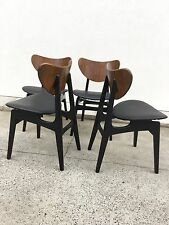 x 4 ORIGINAL G PLAN MID CENTURY DESIGNER VINTAGE BUTTERFLY DINING CHAIRS - 1950s