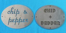 Chip & Pepper Metal Signs / Plaque , Clothing Line / Cartoon Show - Vintage
