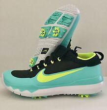 Nike FI Premiere Golf Shoes 835421 003 Black/Turquoise Mens Sz 8 NWOB Reg $150