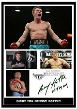 209. ricky hatton the hitman  boxing signed a4 photograph reprint great gift