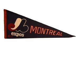 Vintage 1969 Montreal Expos Baseball Pennant Blue White Red MLB Baseball
