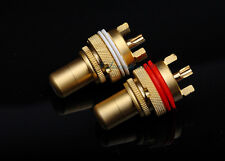 High-grade Gold-Plating Copper RCA CONNECTOR FEMALE CHASSIS SOCKET CRADLE