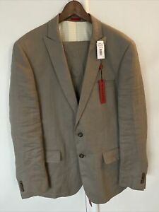 john varvatos Dwel Mens 42R 33 W Linen Suit NWT