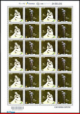 3321-FO BRAZIL 2015 JOINT ISSUE WITH ROMANIA, SCULPTURES, ART, SHEET MNH