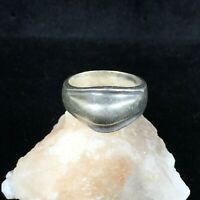 Vintage Taxco Sterling Silver Ring Abstract Modernist Sz 6 Curved Ribbed Mexico