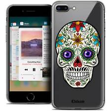 "Coque Crystal Gel Pour iPhone 8 Plus (5.5"") Extra Fine Souple Skull Maria's Flow"