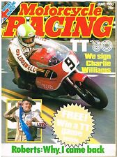 Motorcycle Racing Jun 1980 Charlie Williams Stanley Woods Cotton Pace Roberts