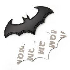 Black Metal Cool 3D Bat Badge Emblem Decal Sticker Auto Detailing Car Styling