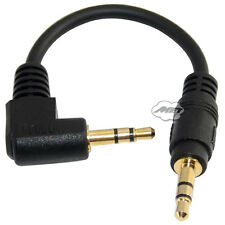 "Adapters Short Cable 3 Pole 1/8"" 3.5mm Stereo Right Angled Audio Male to Male"