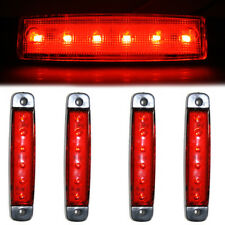4x 24V 6 LED Side Rear Marker Signal Lights Durable Lamps Truck Lorry Chassis