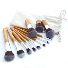 New Natural Bamboo Handles Super Soft 11Pcs Makeup Pince Maquiagem Brush Set