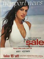 YAMILA DIAZ Summer Sale 2002 NEWPORT NEWS Catalog / ALESSANDRA AMBROSIO