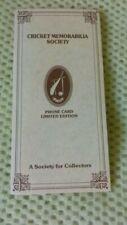 New listing Denis Compton Limited Edition Phonecard - Cricket Memorabilia Society