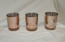 3 Votive Candle Holder Mercury Glass Copper Silver Wedding Tea Light Christmas