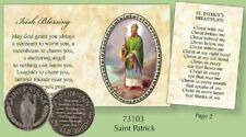 St PATRICK Pocket Token Medal and Prayer Verse Card Keepsake St Patrick Day Gift
