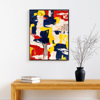 Original abstract painting textured 16X20 canvas, contemporary, fine art modern.