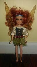 "Disney Tinkerbell Fairies Flutterific Pirate Fairy ZARINA 10"" Doll EUC Dressed"