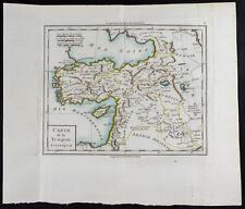 1785 - Carta antica Turchia Asiatica / Mentelle / Antik Türkiye mappa
