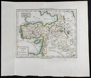 1785 - Carta Antica Turchia Asiatica/Mentelle / Antik Türkiye Mappa