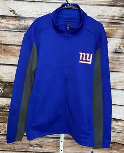 New York Giants NFL Football Team Apparel Jacket Size XXL New Waffle Knit Zip