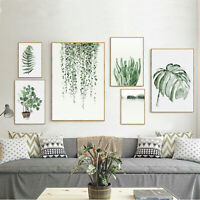 Botanical Prints Plant Leaf Photo Pictures Wall Art Fern Palm Leaves Home Decor