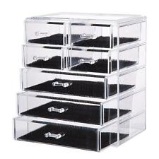 Storage Makeup Organizer Cosmetic Case Box Acrylic Jewelry Display Holder Clear