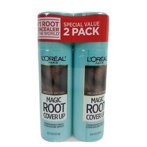 L'Oréal Paris Medium Brown Magic Root Cover Up Temporary Gray Concealer 2-pack