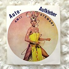 AMII STEWART Sticker Singer Songwriter Music Vintage Knock On Wood Germany Car