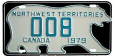 1979 NORTHWEST TERRITORIES POLAR BEAR LICENSE PLATE MADE IN USA
