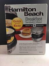 Hamilton Beach Sandwich Maker Electric Silver Black 25475 New