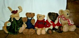 "LOT 5~~BOYDS BEARS~~9""~~4 BEARS AND 1 RABBIT"