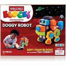 "Velcro Blocks Construction Set Dog Robot 6""Wx10""Lx7-1/10 ""H Multi 70190"