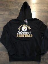 nwt majestic pittsburgh steelers sweat shirt hoodie 2xl (xxl)
