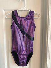 GK Gymnastics Leotard Purple & Black Girls Size Medium