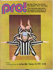 San Diego Chargers Buffalo Bills 10/23/71 NFL PRO! Game Program