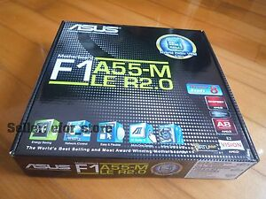 *NEW ASUS F1A55-M LE R2.0 Socket FM1 Micro ATX Motherboard A55 (Hudson D2)