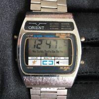 Orient lcd quartz vintage watch reloj 34 mm con defecto