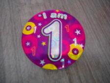 2 in (approx. 5.08 cm) Clip en soy 1 insignia de Cumpleaños Rosa
