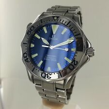 CLASSIC OMEGA  SEAMASTER 300M FULL SIZED QUARTZ WITH ELECTRIC BLUE DIAL