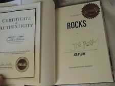 JOE PERRY SIGNED ROCKS MY LIFE IN AND OUT AEROSMITH w/ leather case and coa