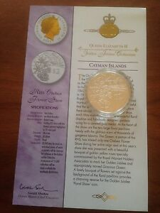 2003 Gold Silver Proof 1oz $2 Two Dollar Coin.ER Jubilee RHS Chelsea Flower Show