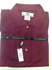 NWT MENS LARGE DONALD JEWELL MERCERIZED COTTON PIQUE GOLF POLO S/S SHIRT BEET