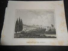 1850 GRAZIOSA INCISIONE PONTE SUL TARO A PARMA