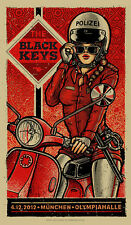 The Black Keys 12/4/2012 Poster Munich Germany Signed & Numbered #/130 Rare!!!